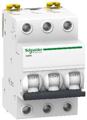 Модульный автоматический выключатель Acti 9 iK60N 3 полюса, 63A, характеристика С | арт. A9K24363 | Schneider Electric