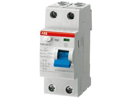 Дифференциальный выключатель нагрузки FH202 2 полюса, 25А, Тип AC, 30мА |  арт.2CSF202004R1250 |  ABB