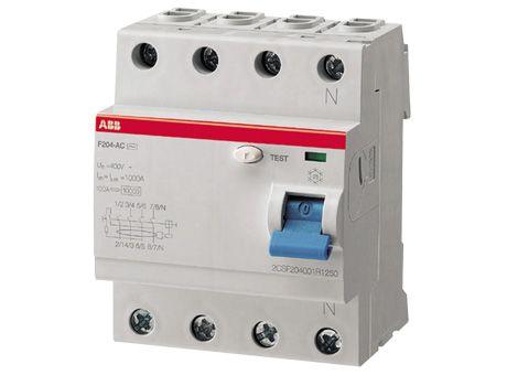 Дифференциальный выключатель нагрузки F204 4 полюса, 25А, Тип AC, 30мА    арт.2CSF204001R1250    ABB