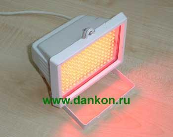 Светодиодный прожектор ПЛ-01 красный, жёлтый