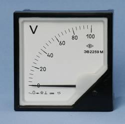 Вольтметры щитовые аналоговые переменного  тока ЭВ2259М