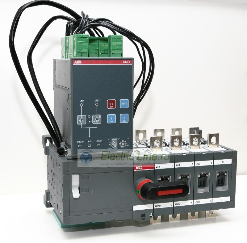 ABB Реверсивный рубильник OTM315E4C2D230C 4-полюсный с блоком АВР OMD200 1SCA101059R1001