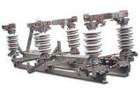 Разъединитель переменного тока РДЗ-35 двухколонковый трехполюсный с 1-м ножом заземления с приводом ПР-12-А(Б), Uн=35кВ, Iн=1000А