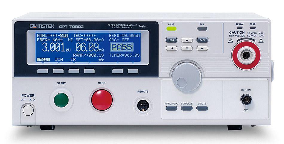 Установка для проверки параметров электрической безопасности GPT-79802