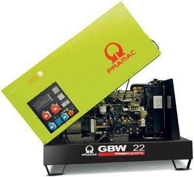 Дизель-генераторная установка PRAMAC GBW22P 400V в кожухе