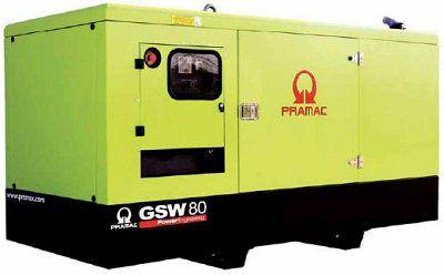 Дизель-генераторная установка PRAMAC GSW80P в кожухе