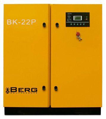 Винтовой компрессор BERG ВК-22Р-Е с ременным приводом, c частотно-регулируемым преобразователем