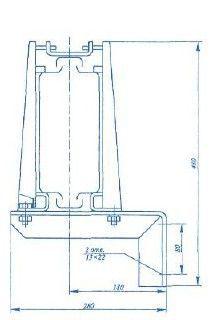 Секция кронштейн У 2081 У3