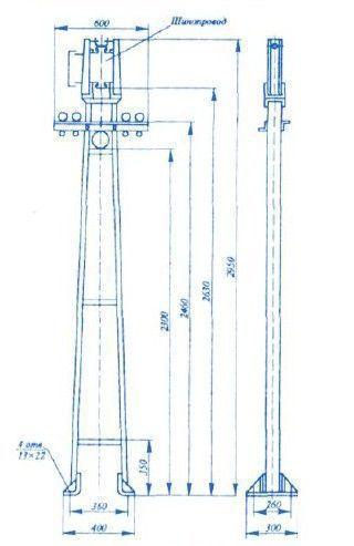 Секция стойка У 2084 У3