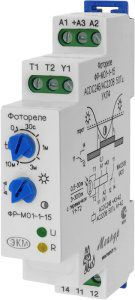 Фотореле ФР-М01-1-15 ACDC24B/AC230B УХЛ4 ( с датчиком) для автоматического включения и отключения освещения