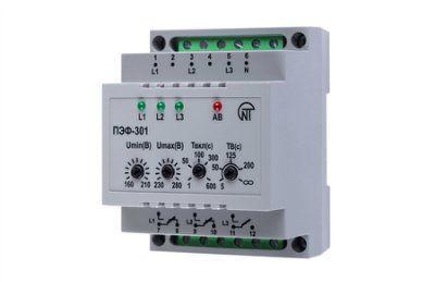 Переключатель фаз ПЭФ-301 универсальный автоматический электронный