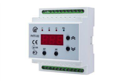 Реле напряжения и контроля фаз РНПП-302 трехфазное