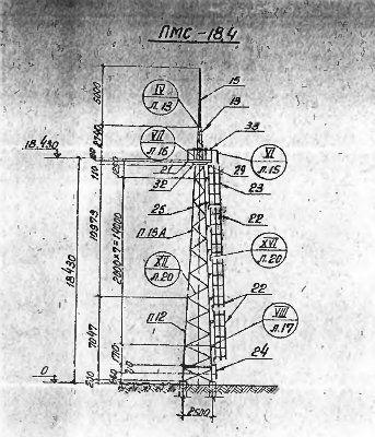 Прожекторная мачта ПМС-18,4