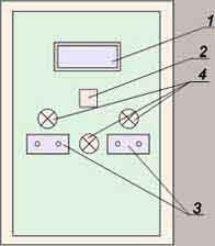 Шкаф станции управления электропечью установки обжиговой РИФЖ 442258.001
