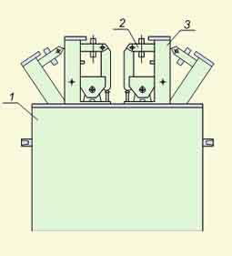 Пресс электромеханический для опрессовки и выпечки изоляции секций обмоток статоров, двухблочный РИФЖ 043149.001