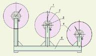 Стойка с тормозом для установки барабанов и натяжения проводов РИФЖ 442122.008