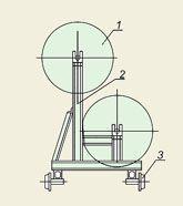 Каретка для четырех барабанов с проводом РИФЖ 481344.001
