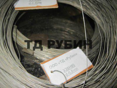 Проволока нихром Х20Н80 ф 1.0 мм