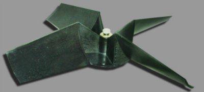 Крыльчатка полипропиленовая ЭВСТ 1.001(КП 4.400.014.0049) с комплектом крепежа