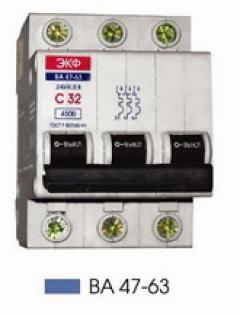 Автоматический выключатель ВА 47-63, 1п 63А (C) 4,5kA
