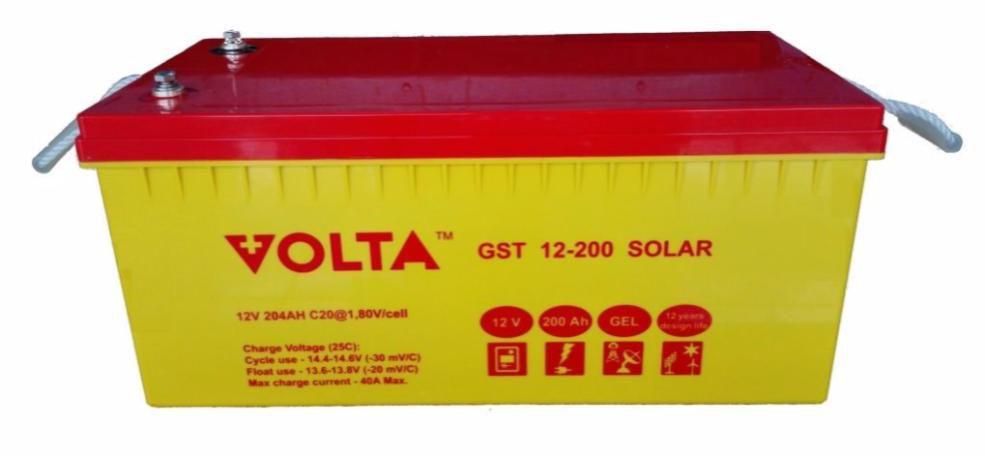 Volta GST 12-200 SOLAR (204Ah, GEL)