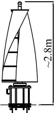 Windside WS-2City 20м/сек ветрогенератор вертикальный
