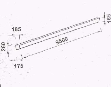 Ж/Б стойка вибрированная для опор ЛЭП СВ-95-20