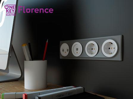Электроустановочные изделия Florence в интерьере