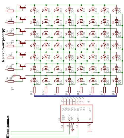 Схема динамической индикации