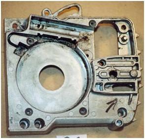 Цепная электропила. Механическое повреждение корпуса редуктора