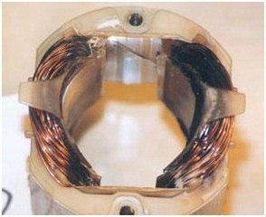 Дисковая пила. Перегрузка – расплавлен статор